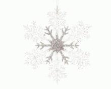 plastic snowflake with hanger