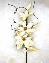 Magnolia Spray Ivory/Gold