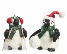 foam penguin w scarf 2ass