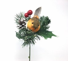 Xmas Pick with Robin Berries & Cone