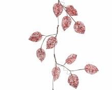 plc leaf garland w glitter