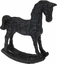 ROCKINGHORSE 30CM BLACK