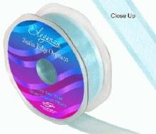Ribbon Satin Edge Organza 25mm Duck Egg Blue