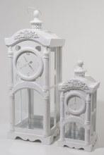 fir wood lantern clock