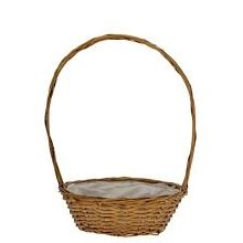 Basket Round with Handle Hollywood Natural (30cm)