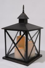 LED plastic lantern (Black)