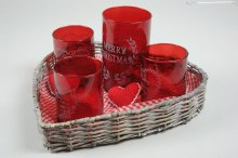 willow heart tray w tlghtholde