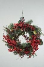 Deco Wreath w.Berries Bow 40cm