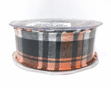 Big Tartan Ribbon Orange (4cm x 15m)