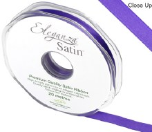 Double faced satin (10mm x 20m/Purple)
