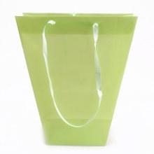 Carrybag Plastic Uni Apple Green(24/11x12/11x28cm)