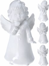 ANGEL PORCELAIN WIT 15 CM 4ASS