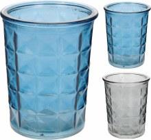 TEALIGHTHOLDER GLASS 9X11CM 2A