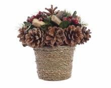 pinecone table deco w branches