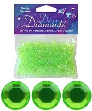 Decor Diamante 6mm Lime Green