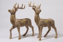 poly deer standing 2ass