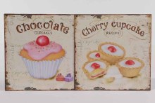 Zinc wall sign with cupcake