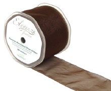 Finesse wired ribbon (70mm x 20m/Chocolate)