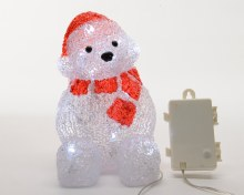 LED acr bear w scarf out bo