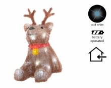 LED acrylic deer 2ass ind bo