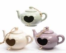 porc birdhouse teapot