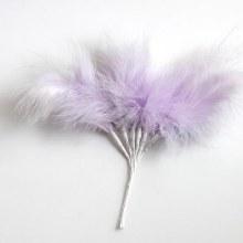 Fluff Feathers Lilac x6