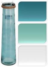 Glass Pot 9X35cm 3Ass