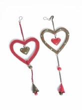Jingle Hanging Wooden Heart