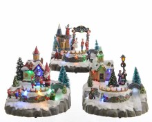 LED Xmas villages 3ass in bo