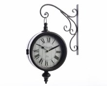 iron clock cafe w wall hanger
