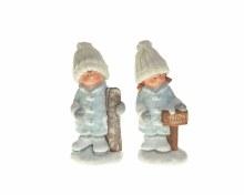 ceramic child snow 2ass boy w