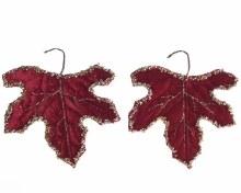 pes velvet leaf with glitter