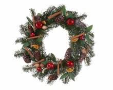 deco wreath dried fruit nuts
