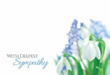 Card With Deepest Sympathy - Snowdrops