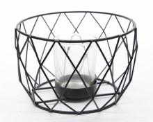 Iron tealightholder geometric
