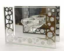 glass tealightholder w crystal