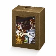 Box w Transparency Brown -Pelle Marrone (28x20x35)