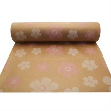 Natural kraft paper with pink & white fleur (50cm)