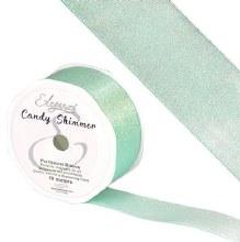 Candy Shimmer Metallic Ribbon Carib Blue 38mmx10m