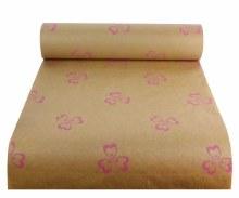 Kraft Paper Nat Pollyanna Green/Pink (50cmx100m)