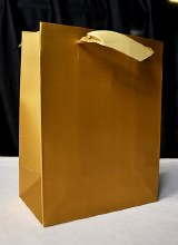 Plain Carrier Bags Large Gold