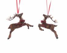 poly deer with hanger 2ass