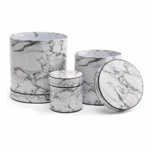 Hat Box Marble White Set/3