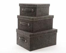 Felt storage box (Dark grey)