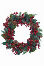 decorated wreath red glitter