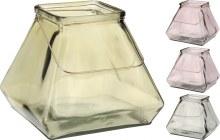 TEALIGHTHOLDER GLASS 4ASS