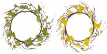 Wreath with Egg Decoration Assorted 20cm