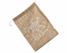 jute giftbag let it snow
