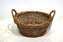 Round eared basket (22x9cm/Dark brown)