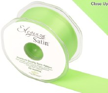 Double Faced Satin 38mm Lime Green